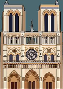 Cathédrale Notre Dame de Paris clipart