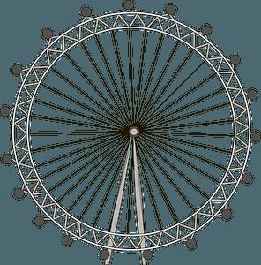 London Eye clipart