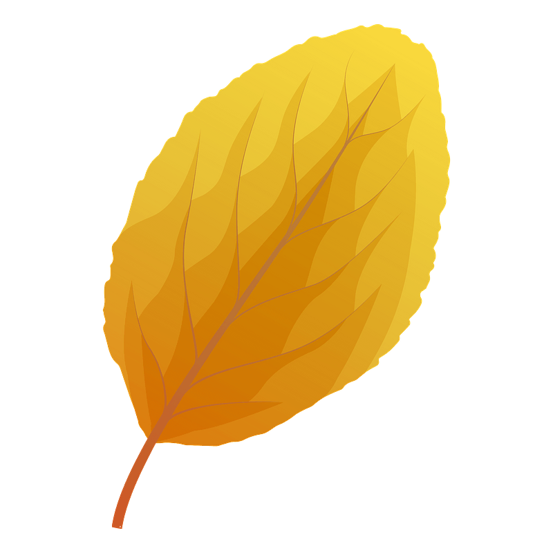 Plum tree autumn leaf clipart