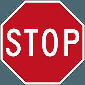 Australia stop sign clipart