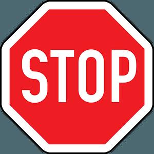 Austria stop sign clipart