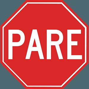 Brasil stop sign clipart