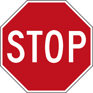 Canada stop sign clipart