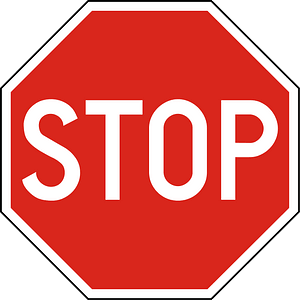 Hungary stop sign clipart