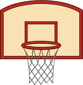 Basketball rim immagine clipart