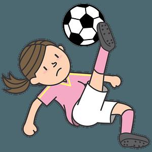Girl - Football player clipart
