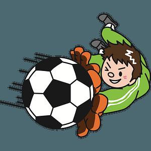 Football goalie clipart