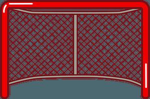 Hockey net clipart