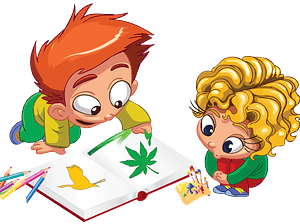 Kids are enjoying coloring clipart