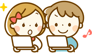 Boy and a girl playing video games clipart
