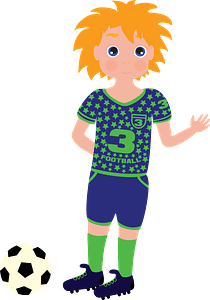 Boy Football Player clipart