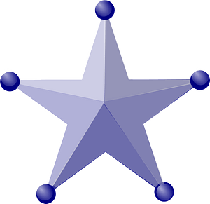 3d star badge clipart