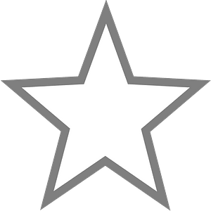 Empty Star clipart