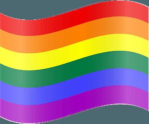 Rainbow flag clipart