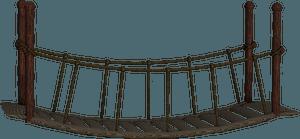 Wooden bridge clipart