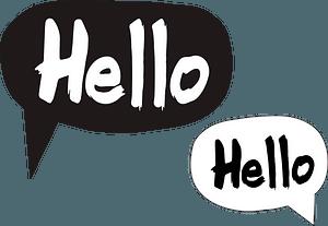 Hello speech bubbles clipart