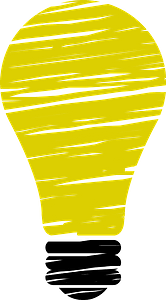 Stylized light bulb clipart