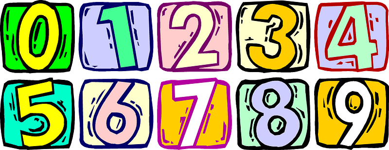 Colourful numbers clipart. Free download transparent .PNG | Creazilla