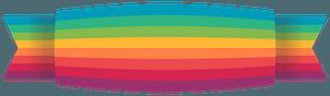 Rainbow ribbon clipart
