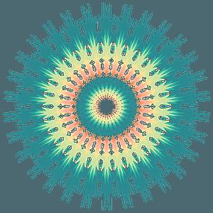 Colourful mandala clipart