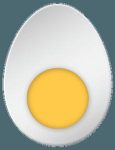 Half boiled egg clipart
