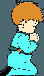 Praying child clipart