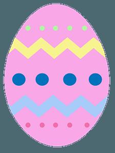 Pink Easter egg clipart
