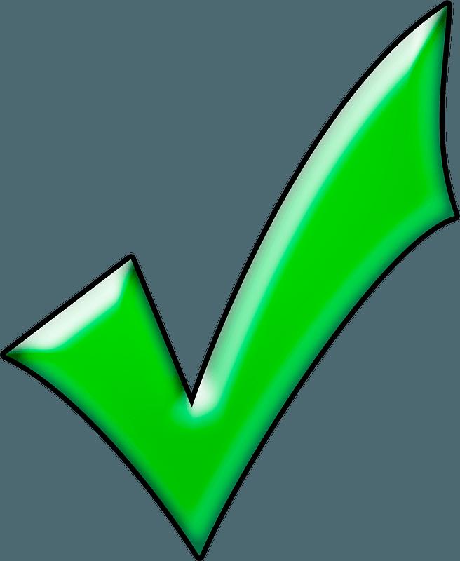 Green Check Mark Clip Art, HD Png Download , Transparent Png Image - PNGitem