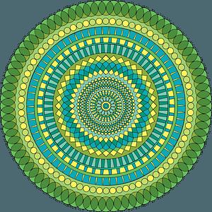 Green mandala clipart