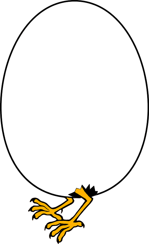 Baby chick hatching clipart
