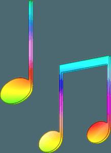 Rainbow music notes clipart