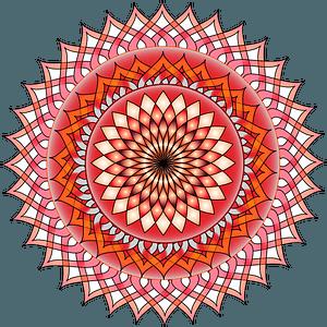 Red mandala clipart