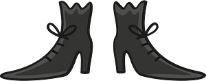 Witch shoes clipart