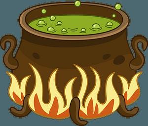 Boiling cauldron clipart