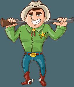 Cowboy Sheriff clipart