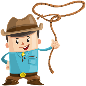 Cowboy with a lasso clipart