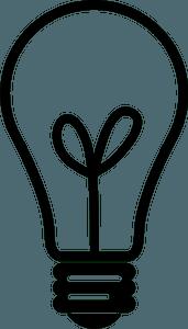 Light bulb icon clipart