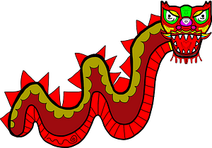 Chinese dragon clipart
