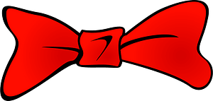 Red bowtie clipart