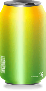 Green and yellow drink can clipart