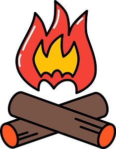 Camp fire clipart