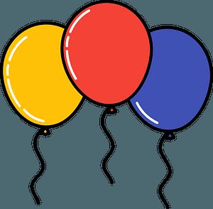 Birthday balloons clipart