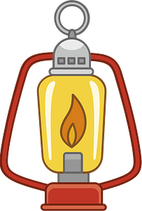 Camping lantern clipart