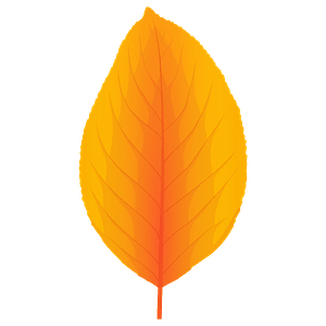 Pear tree yellow leaf clipart