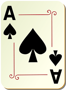 Ornamental Deck: Ace of Spades clipart