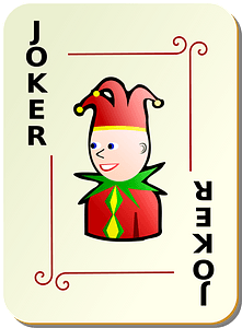 Ornamental Deck: Black Joker clipart