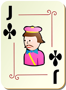 Ornamental Deck: Jack of Clubs clipart