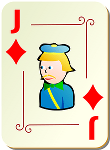Ornamental Deck: Jack of Diamonds clipart