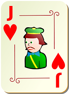 Ornamental Deck: Jack of Hearts clipart