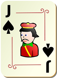 Ornamental Deck: Jack of Spades clipart